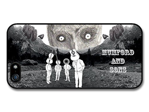 customize diy Mumford & Sons Black and White Illustration with Instruments Heads case for iPhone 5 5S ka ka case