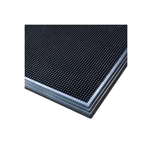 Notrax Desinfektionsmatte - LxB 810 x 610 mm - schwarz - Arbeitsplatzmatte Arbeitsplatzmatten Bodenbelag Bodenmatte Gummimatte Sicherheitsmatte -