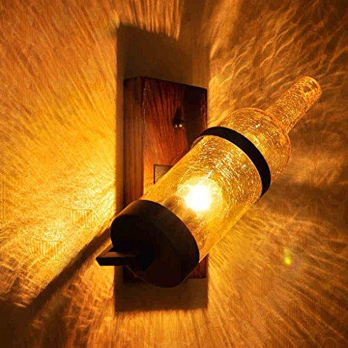 Wand Mittelmeer European American Vintage chinesische neue chinesische Art Nordic Holz bar Lampe Schlafzimmer Nachttischlampe kreative - Holz Amber