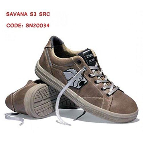SAFETY SHOE U-POWER SAVANA S3 Aluminium toe cap FOIL FLEX & SAVE Brun/beige