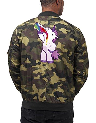 Drinking Unicorn Bomberjacke Camouflage Certified Freak-XXL