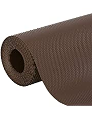 Kuber Industries Multipurpose Textured Super Strong Anti-Slip Mat Liner - Size 45X150cm (1.5 Meter Roll, Brown) - CTKTC022135
