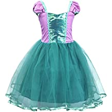 AmzBarley Vestido de sirena de manga corta sirena de vestir Vestido de fiesta elegante de s
