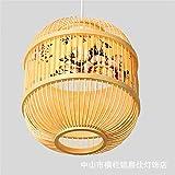 ZXDD Hängelampe, Wandleuchte chinesischer Stil Wohnzimmer Schlafzimmer Kronleuchter Kreatives Restaurant Hotel Bambus Kunst LED Laterne Licht Südostasiatischen Stil, 260X290 Mm