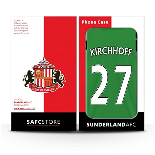 Officiel Sunderland AFC Coque / Etui Gel TPU pour Apple iPhone 5C / Pack 24pcs Design / SAFC Maillot Extérieur 15/16 Collection Kirchhoff