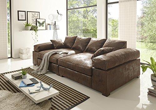 BIG Sofa -Vintage Hell Braun – Modell Hercules