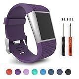 Für Fitbit Surge, Ersatz Bands für Fitbit Surge Activity Tracker (Purple -S)