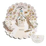 JSGJHK Neue Hochzeit Segen Cartoon Stereo 3d Grußkarte Liebhaber Hochzeit Geburtstagsgeschenk Persönlichkeit KT Karte, Cherub Hochzeit Karte 115