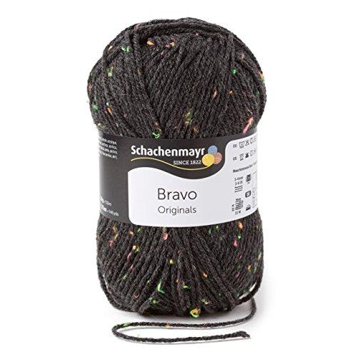 Schachenmayr Bravo 9801211-08329 anthrazit neon tweed Handstrickgarn, Häkelgarn -