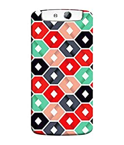 PrintVisa Designer Back Case Cover for Oppo N1 (Choco lovers Dark Chocolate White balls and dots Designer Case Checks pattern Cell Cover Cute Girly Smartphone Cover Multi Pattern Simple good looking )