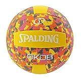 Spalding Kob Ballon de Basket Mixte Adulte, Jaune/Rose, 5