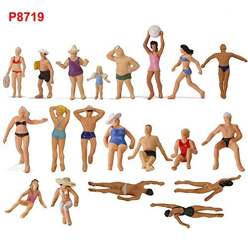 Evemodel 40Stk. 1:87 Spur h0 Schwimm Figuren Menschen Modelleisenbahn P8719