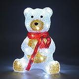 Monzana - Figurine Lumineuse LED en Acrylique - décoration de Noël - Nounours Assis - Ours Polaire Lumineux - Illumination de noël