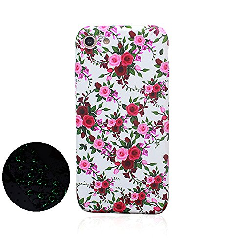 "Jinberry Colorate Fiori Matte Custodia Luminosa Protettiva in TPU Morbida per iPhone6 Plus (5.5"") Dipinto Ultrasottile Case Back Cover Nottilucenti per Apple iPhone 6 Plus - 02"