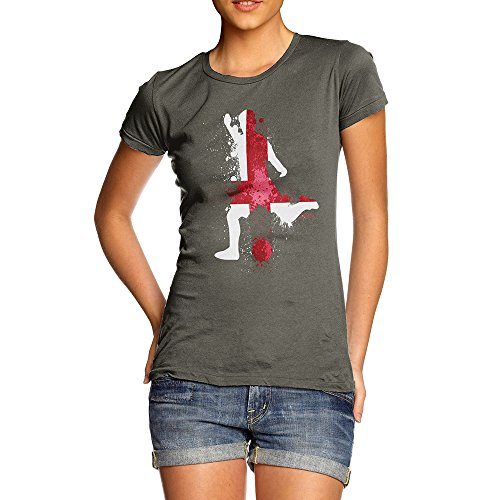 TWISTED ENVY Funny Shirts for Women Football Soccer Silhouette England