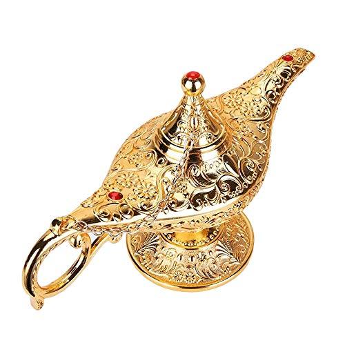 SogYupk Coleccionable RARA Leyenda Aladdin Magic Genie Disfraz lámpara decoración de Mesa en casa y Regalo