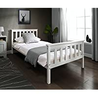 single 3ft wooden bed frame white solid european wood for adult kids child or children camila upholstered bed frame if you have a small living space