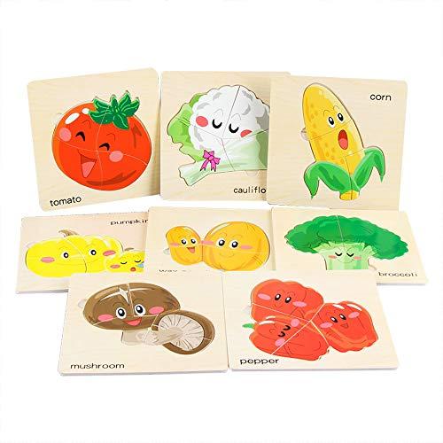 8 Teile / Satz Holz Tier Puzzle Pädagogische Entwicklungs Baby Kids Training Spielzeug YunYoud kinderspielsachen für mädchen Spielzeug Spiele Spielzeug ökologisches Spielzeug