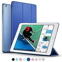 ESR Funda Nuevo iPad 2017 con Auto-Desbloquear y Función de Soporte [Ligera] de Cuero Sintético y Plástico Duro Transparente Esmerilado Cover Cáscara para Apple New iPad 2017 de 9.7 pulgadas -Azul Marino