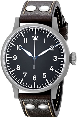 Laco Herren-Armbanduhr Laco Pilot 861748 Analog Automatik Leder Braun 861748