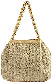 Metro Women Gold Not Applicable Clutch (38-4567)