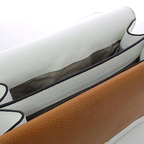 Ambrine borsa in pelle BLANCHE/CUIR
