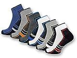 sockenkauf24 6 oder 12 Paar SPORT Sneaker Socken mit Frotteesohle verstärkt Herrensocken Sportsocken - 16215/20 (43-46, 6 Paar | Farbmix)