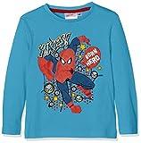 Sun City FR Spiderman, Camiseta para Niños, Azul (Bleu 16-4530TCX), 3-4 Años