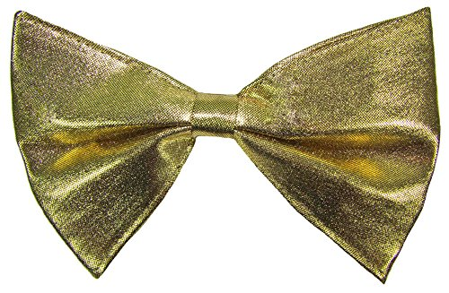 Unbekannt Große Metallic Fliege zum Show Kostüm für Erwachsene - Gold