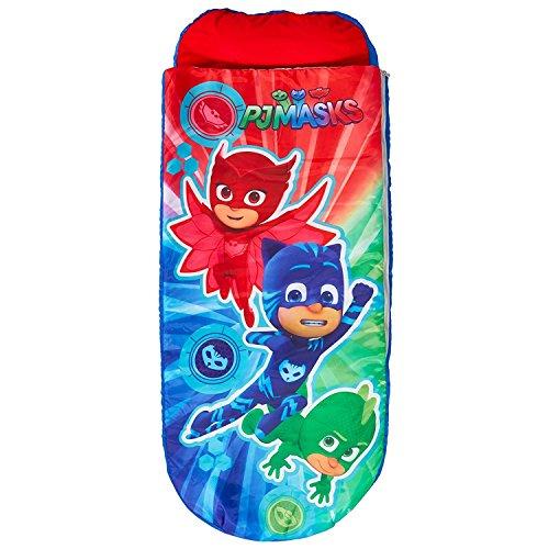 PJ Masks 406PJM Junior-ReadyBed - Kinder-Schlafsack und Luftbett in einem, Polyester, Mehrfarbig, 150x62x20 cm -