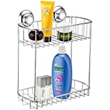 MaxHold No-drilling/suction Double Rectangular Basket- Vaccum System - Stainless Steel
