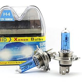 2 x H4 100W Scheinwerfer Halogen Bulbs Weiß 9003 HB2 Für Nebel lampe Xenon Bulbs 12V Auto Tagfahrlicht DRL Lampen