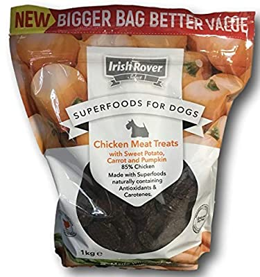 Irish Rover New Super Foods for Dogs Chicken Meat Dog Treats with Sweet Potato Carrot and Pumpkins 1Kg from Irish Rover