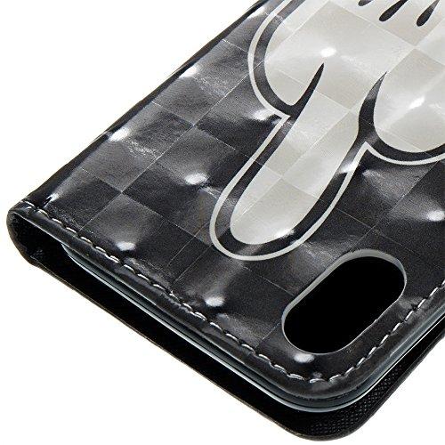 Coque Iphone X Edition, Iphone X Case, Iphone X Coque, Iphone X Protection, Coque Iphone 10 euros, Nnopbeclik® à Rabat Fonction Wallet/Portefeuille en Bonne Qualité PU Cuir Housse (5.8 Pouces) Peint 3 haveaniceday