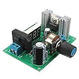 Medidor LED - TOOGOO(R)LM317 Regulador de voltaje ajustable Medidor LED del modulo de fuente de alimentacion de paso hacia abajo