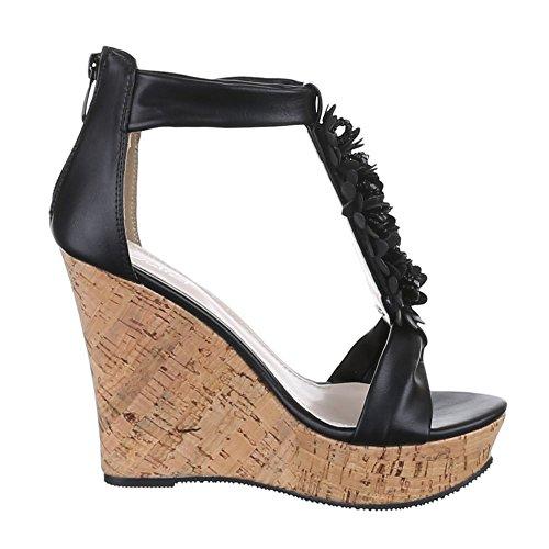 Ital-design - Sandales Pour Femmes Black (noir)