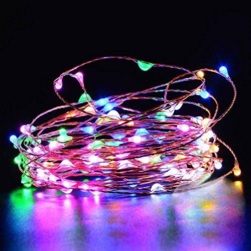 Preisvergleich Produktbild Ryham Fee f¨¹hrte Lichterketten Cooper Draht Multi Color Licht Rot Gr¨¹n Blau Wei 9.8 Ft 30 Leds 3M