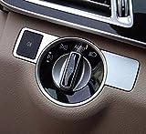 Emblem Trading Lichtschalter Rahmen Blende Mittelkonsole Armaturenbrett Blende Verkleidung Rahmen Edelstahl Autozubehör