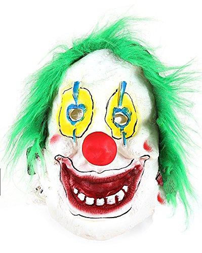 Maschera carnevale veneziano da pagliaccio clown it verde da uomo e donna, travestimento maschera horror per halloween