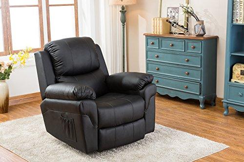 Mcombo poltrona massaggiante reclinabile poltrona rilassante poltrona letto tv inclinato nero