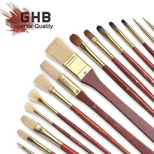 ghb-16pcs-pinceles-de-pintura-de-artista-sets-de-pinceles-y-brochas-con-el-bolsillo-de-lona-negro
