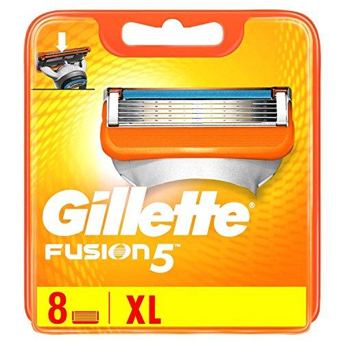 Gillette-Lamette da rasoio Fusion, 8pezzi, 1er Pack (1x 8pezzi)