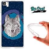 Becool® Fun - Funda Gel Flexible para Bq Aquaris M5 .Carcasa TPU fabricada con la mejor Silicona, protege y se adapta a la perfección a tu Smartphone y con nuestro diseño exclusivo Lobo Low Poly