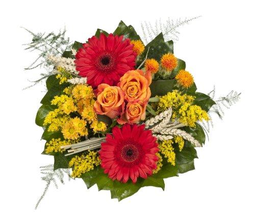"""floristikvergleich.de Dominik Blumen und Pflanzen, Blumenstrauß  """"Lebenslust"""" mit roten Gerbera und Rosen"""