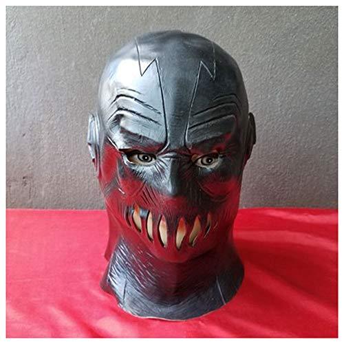 Maske YN Flashman Latex Cos Marvel Superhelden League of Legends Rolle spielt Flash Kopfbedeckungen (Color : Black Flash)