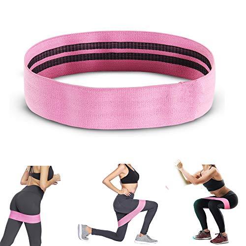 Bande elastiche resistenza, elastico fitness per glutei,fascia di resistenza per gambe,fascia elastica rosa antiscivolo per donna