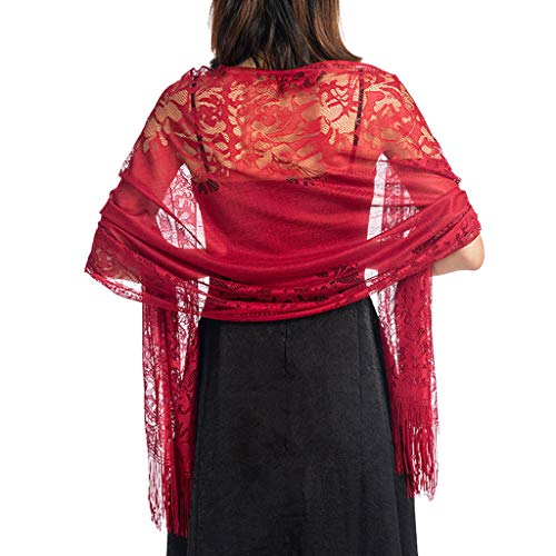 Longsw - Bufanda para mujer 185 x 63 cm