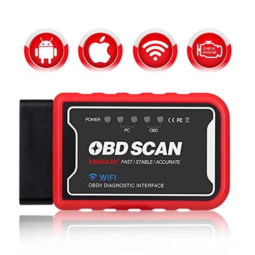 Kingbolen WiFi OBD Scan Diagnosegerät OBD2 Auto Code Reader für iOS iPhone iPad Android PC