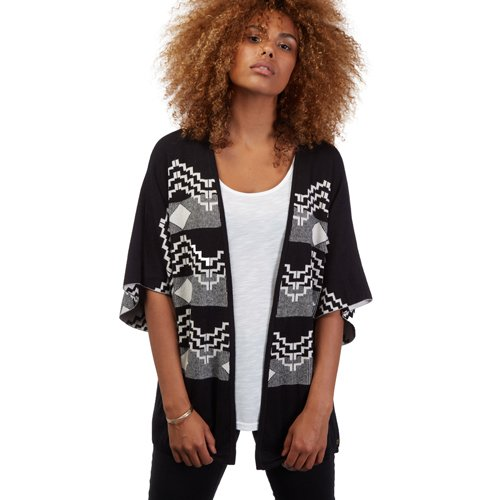 Volcom Get in Line Sweater Maglioni Felpe giubbotti Donna, donna, GET IN LINE SWEATER, nero, FR : Medium (Taille Fabricant : M/L)