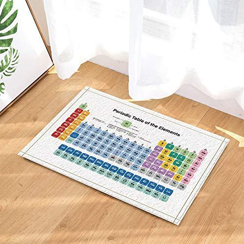 YYAANNGG Periodische Tabelle Buchstaben des chemischen dekorativen Elements Badteppich rutschfeste Türmatte Wohnzimmer Kinderteppich Badezimmerzubehör 50x80cm (Chemische Tabelle)